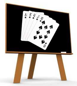 pizarra poker