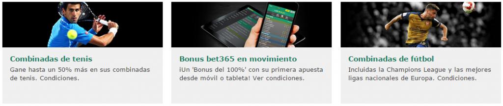 Otras promociones bet365