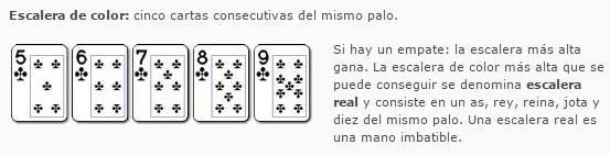 escalera pokerstars