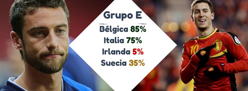 Grupo E pronoticos eurocopa 2016 belgica italia irlanda suecia