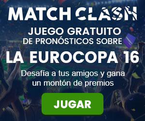 Match Clash Juego gratuito de pronosticos sobre la Eurocopa16