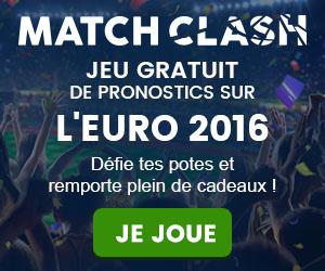 Match Clash - Jeu gratuit de pronostics sur l'Euro 2016