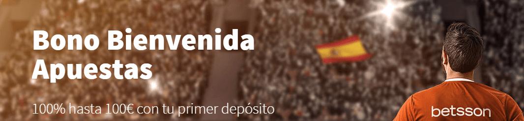 Código promocional Betsson: ¡hasta 1000€ con tus primeros 3 depósitos!