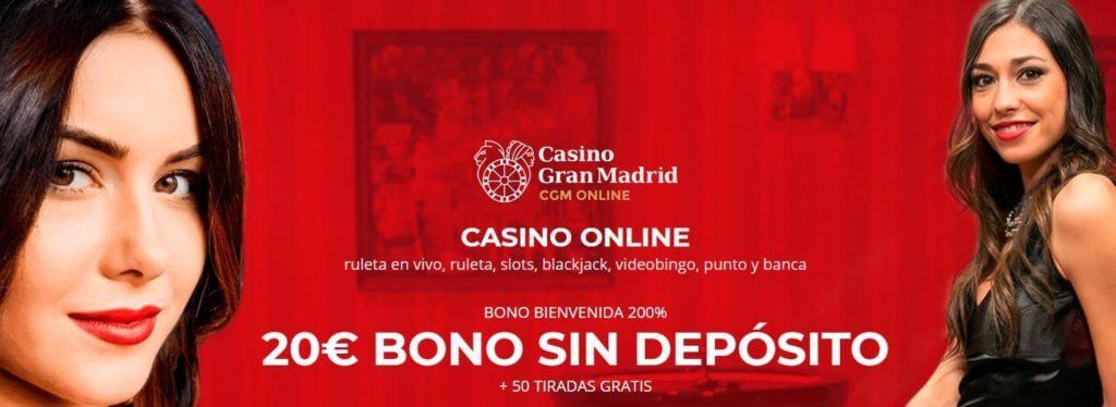 bono de bienvenida sin depósito casino gran madrid