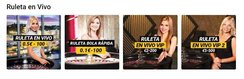 ruleta en vivo bwin