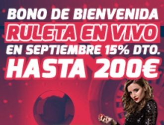 Betfred Bono de Ruleta en Vivo