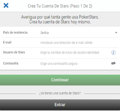 Pokerstars Registro