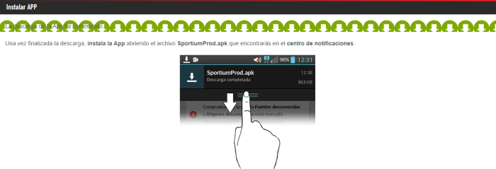 Sportium App Móvil