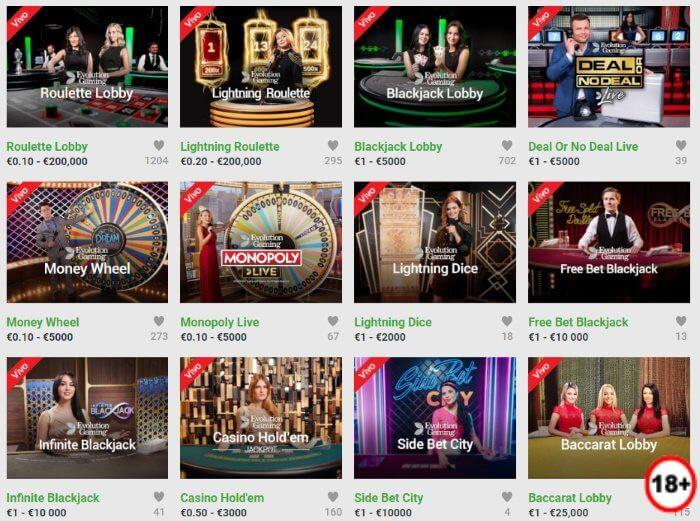 Unibet Juegos de Casino