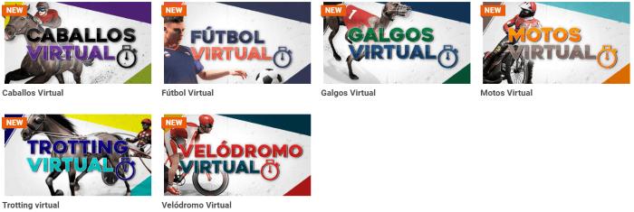 Oferta de Apuestas Virtuales