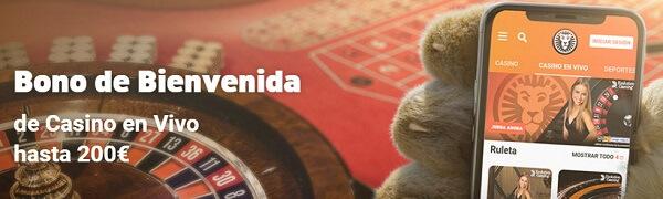 LeoVegas Casino en Vivo Bono Bienvenida