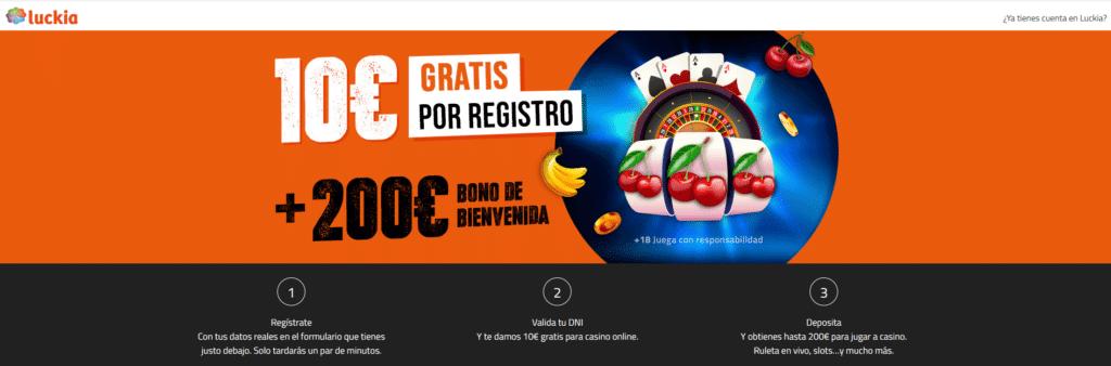 bono bienvenida luckia casino