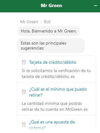 Mr Green Ayuda