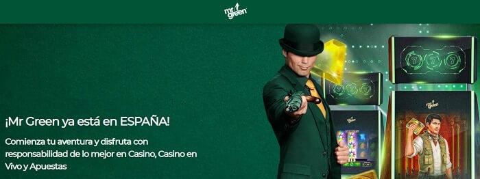 Mr Green Bienvenida