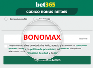 codigo bonus bet365